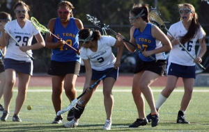 Fighting for ground ball