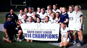 Friday's ceremonies included revealing the 2014 South Coast League championship banner!